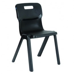 Titan 1 Piece Chair 380mm Charcoal [Pack of 30]