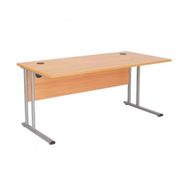 Starter Rectangular Cantilever Desk 1600mm Beech