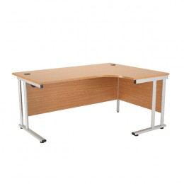 Starter Radial Right-Hand Cantilever Desk 1600mm Oak