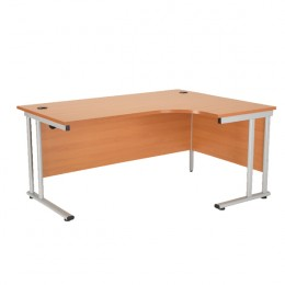 Starter Radial Right-Hand Cantilever Desk 1800mm Beech