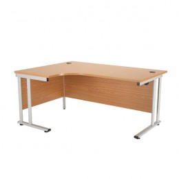 Starter Radial Left-Hand Cantilever Desk 1800mm Oak