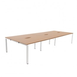 Arista 1200mm 6 Person Bench System Oak