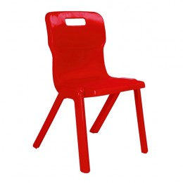 Titan 1 Piece Chair 350mm Red [Pack of 10]