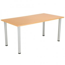 Jemini Beech 1600x800mm Rectangular Meeting Table