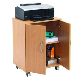 Jemini Mobile PC and Printer Storage Stand Beech