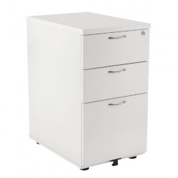 First Desk High Pedestal 3 Drawer 800mm Deep White