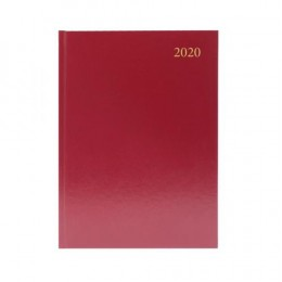 Condiary A4 Diary Appointment Day per Page 2020 Burgundy