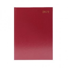 Condiary A4 Diary Two Days per Page 2020 Burgundy