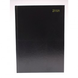 Condiary A4 Diary Two Days per Page 2018 Black