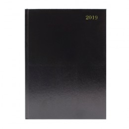 Condiary A4 Diary Two Days per Page 2019 Black