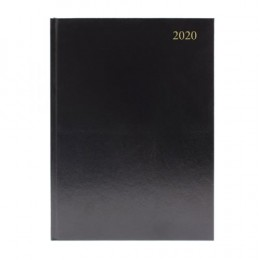 Condiary A4 Diary Two Days per Page 2020 Black