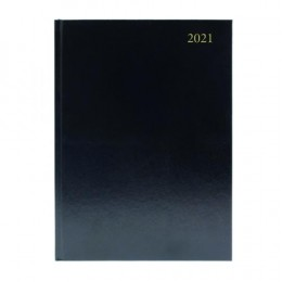 Condiary A4 Diary Week to View 2021 Black