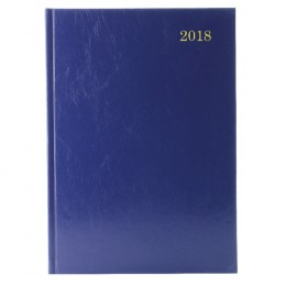 Condiary A5 Diary Appointment Day per Page 2018 Blue