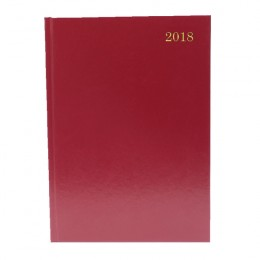 Condiary A5 Diary Day per Page 2018 Burgundy