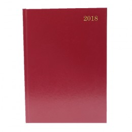 Condiary A5 Diary Two Days per Page 2018 Burgundy