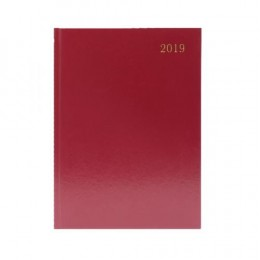 Condiary A5 Diary Two Days per Page 2019 Burgundy