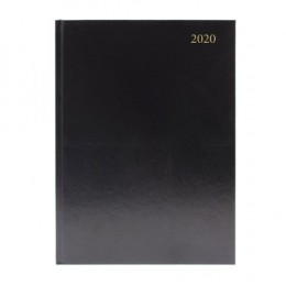 Condiary A5 Diary Two Days per Page 2020 Black