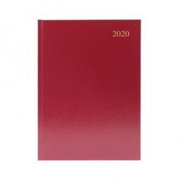 Condiary A5 Diary Week to View 2020 Burgundy