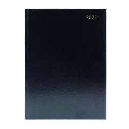 Condiary A5 Diary Week to View 2021 Black