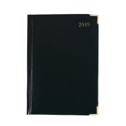 Condiary A4 Executive Desk Diary Day per Page 2020 Black