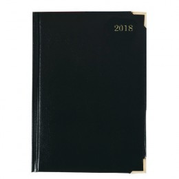 Condiary A5 Executive Desk Diary Day per Page 2018 Black