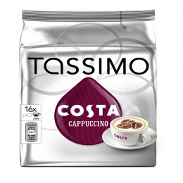 Tassimo Costa Cappuccino Coffee 8x280G Capsules [Pack of 5]