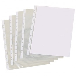 Unbranded Punched Pocket A4 Clear [Pack of 500]
