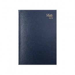 Letts A5 Business Diary Day per Page 2019 Blue