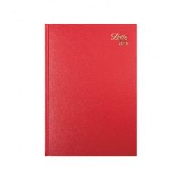 Letts A5 Business Diary Day per Page 2019 Red