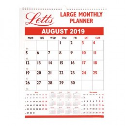 Letts Large Monthly Planner 2019