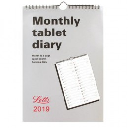 Letts Monthly Tablet Calendar 2019