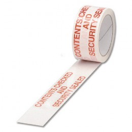 Ambassador Tape Contents Checked White and Red [Pack of 6]