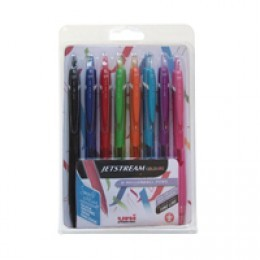 Uni Jetstream Retractable Rollerball Assorted [Pack of 8]
