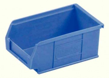 Small Parts Container 100x165x75mm Louvered Value 3 Blue [Alternative Picture 1]