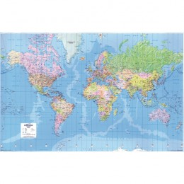 Giant World Political Map Laminated