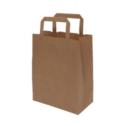 MyCafe Kraft SOS Carriers with Handles 175x95x215mm Brown [Pack of 500]