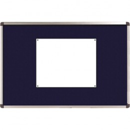 Nobo Ellipse Notice Board Felt 1200x900mm Blue