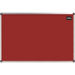 Nobo Ellipse Notice Board Felt Red 1200x900mm