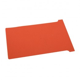 Nobo T-Card Size 3 Red [Pack of 100]