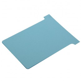 Nobo T-Card Size 3 Light Blue [Pack of 100]
