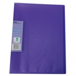 Pentel Recycology Display Book Vivid 30 Pocket Violet [Pack of 10]