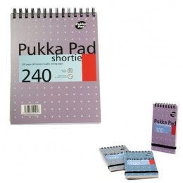 Pukka Shortie Metallic A5 Writing Pad 80g [Pack of 3]