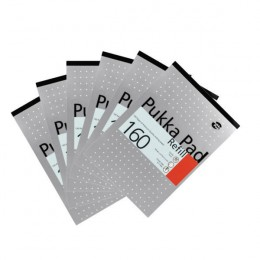 Pukka Refill Pad Punched White 80 Leaf [Pack of 6]