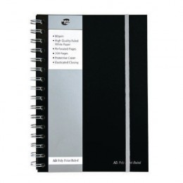 Pukka Pad Wirebound Poly Jotta Book A5 Black [Pack of 3]