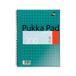 Pukka A4 Metallic Jotta Notebook Squared [Pack of 3]