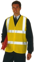 Proforce High Visibility 2 Band Waistcoat Yellow XL