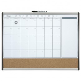 Quartet Magnetic Monthly Combi Planner Board 585x430mm