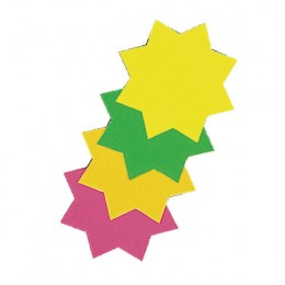 Bright Ideas Ticket Board Stars 152mm Assorted [Pack of 12]