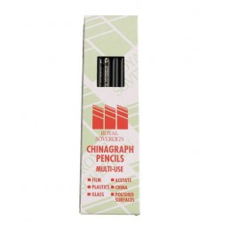Royal Sovereign Chinagraph Pencil Black [Pack of 12]