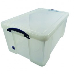 Really Useful 64 Litre Office Box Clear